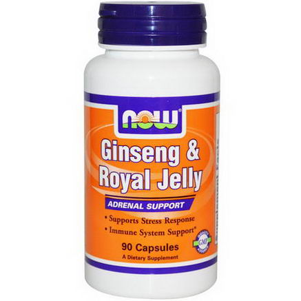 Now Foods, Ginseng & Royal Jelly, 90 Capsules