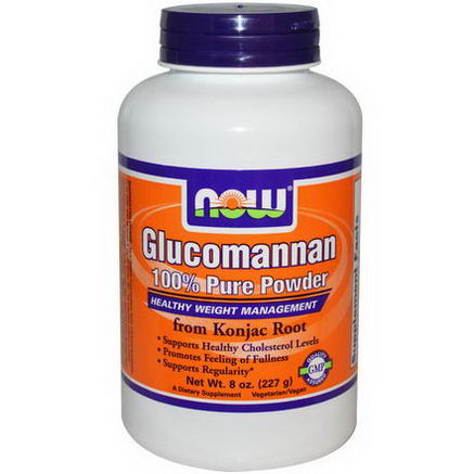 Now Foods, Glucomannan, 100% Pure Powder, 8oz (227g)