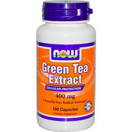 Now Foods, Green Tea Extract, 400mg, 100 Capsules