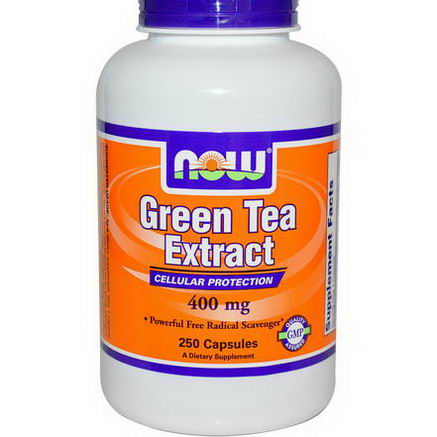 Now Foods, Green Tea Extract, 400mg, 250 Capsules