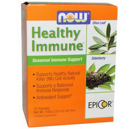 Now Foods, Healthy Immune, Seasonal Immune Support, 24 Packets, (4.5g) Each