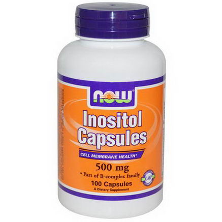 Now Foods, Inositol Capsules, 500mg, 100 Capsules