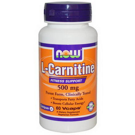 Now Foods, L-Carnitine, 500mg, 60 Vcaps