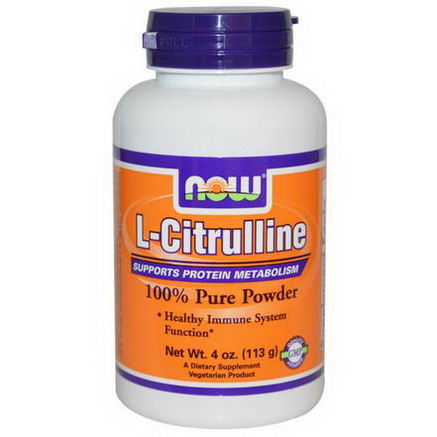 Now Foods, L-Citrulline, 100% Pure Powder, 4oz (113g)