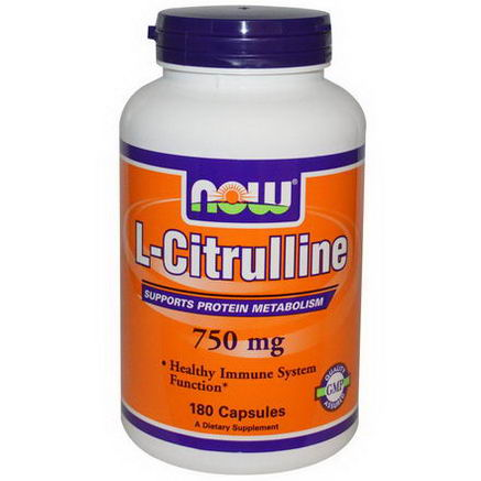Now Foods, L-Citrulline, 750mg, 180 Capsules