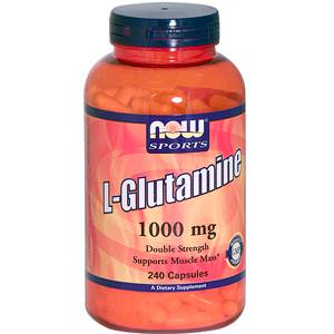 Now Foods, L-Glutamine, 1000mg, 240 Capsules