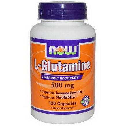 Now Foods, L-Glutamine, 500mg, 120 Capsules
