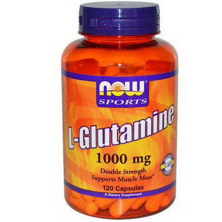 Now Foods, L-Glutamine, Double Strength, 1000mg, 120 Capsules