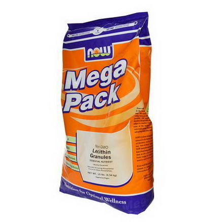 Now Foods, Lecithin Granules, Mega Pack, Non-GMO, 10 lbs (4.54 kg)