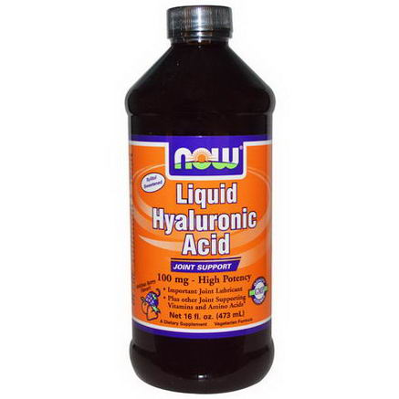 Now Foods, Liquid Hyaluronic Acid, Berry Flavor, 100mg, 16 fl oz (473 ml)