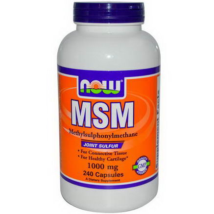 Now Foods, MSM, 1000mg, 240 Capsules
