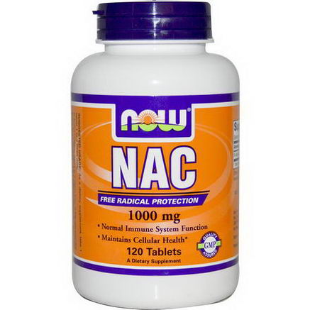 Now Foods, NAC, 1000mg, 120 Tablets