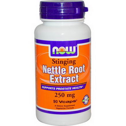 Now Foods, Nettle Root Extract, Stinging, 250mg, 90 Vcaps