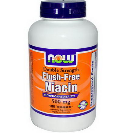 Now Foods, Niacin, Flush-Free, Double Strength, 500mg, 180 Vcaps