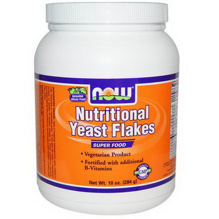 Now Foods, Nutritional Yeast Flakes, 10oz (284g)