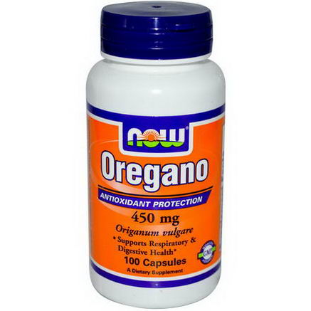 Now Foods, Oregano, 450mg, 100 Capsules