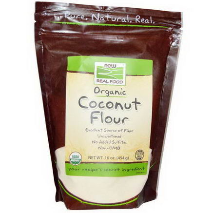 Now Foods, Organic Coconut Flour, 16oz (454g)