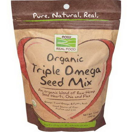 Now Foods, Organic Triple Omega Seed Mix, 12oz (340g)