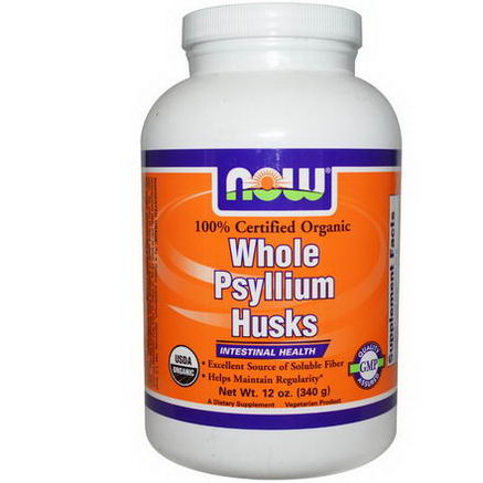 Now Foods, Organic Whole Psyllium Husks, 12oz (340g)