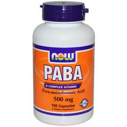 Now Foods, PABA, 500mg, 100 Capsules