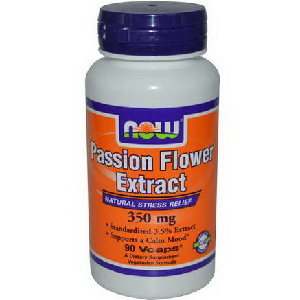 Now Foods, Passion Flower Extract, 350mg, 90 Veggie Caps