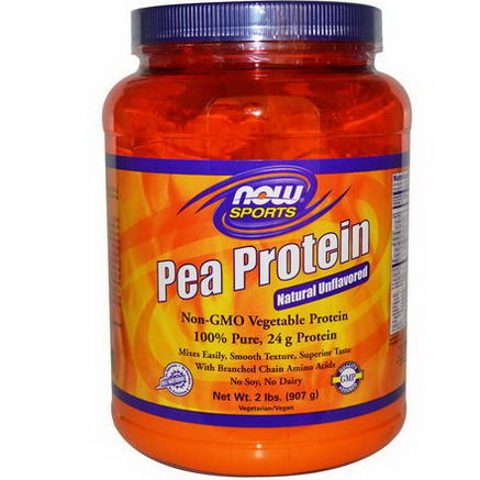 Now Foods, Pea Protein, Natural Unflavored, 2 lbs (907g)