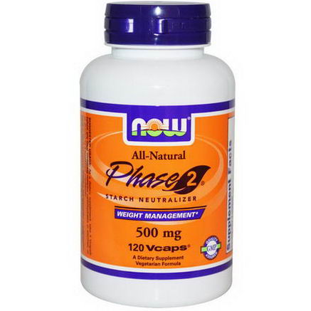 Now Foods, Phase 2 Starch Neutralizer, 500mg, 120 Vcaps
