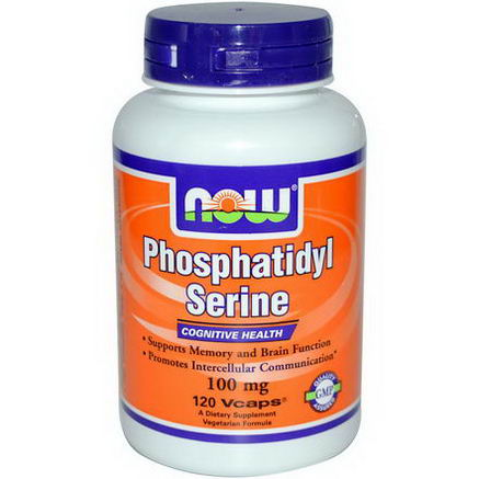 Now Foods, Phosphatidyl Serine, 100mg, 120 Veg Caps