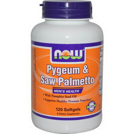 Now Foods, Pygeum & Saw Palmetto, Men's Health, 120 Softgels
