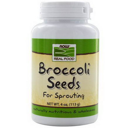 Now Foods, Real Food, Broccoli Seeds, 4oz (113g)