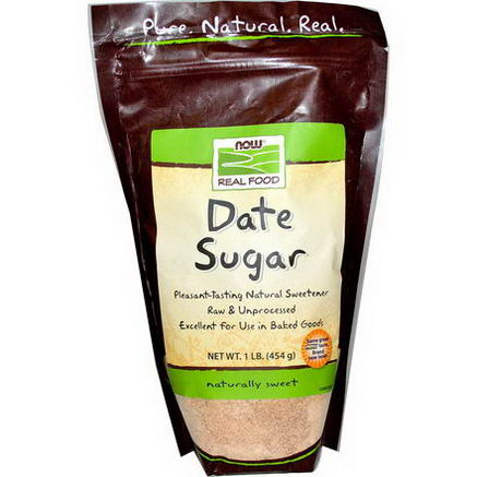 Now Foods, Real Food, Date Sugar, 1 lb (454g)