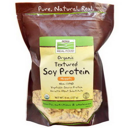 Now Foods, Real Food, Organic Textured Soy Protein Nuggets, 8oz (227g)