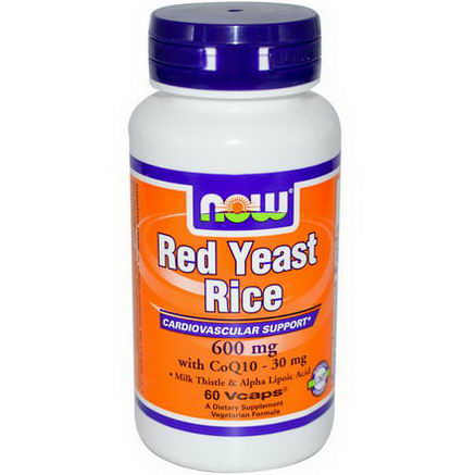 Now Foods, Red Yeast Rice, 600mg, 60 Vcaps