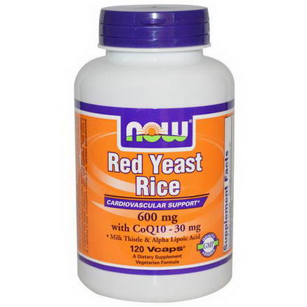 Now Foods, Red Yeast Rice, with CoQ10 - 30mg, 600mg, 120 VCaps