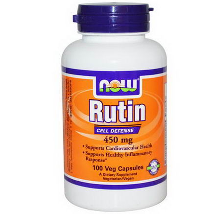 Now Foods, Rutin, 450mg, 100 Veggie Caps