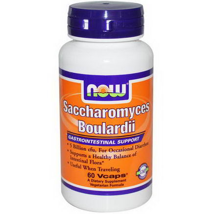 Now Foods, Saccharomyces Boulardii, Gastrointestinal Support, 60 Vcaps