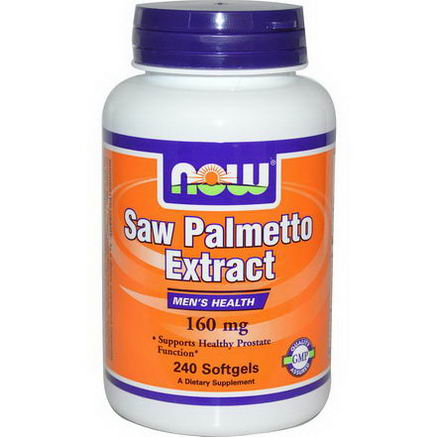 Now Foods, Saw Palmetto Extract, 160mg, 240 Softgels