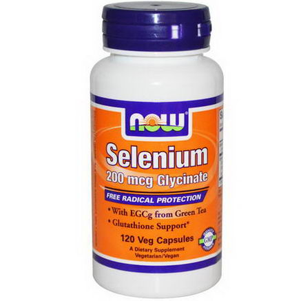 Now Foods, Selenium, 200 mcg, 120 Veggie Caps