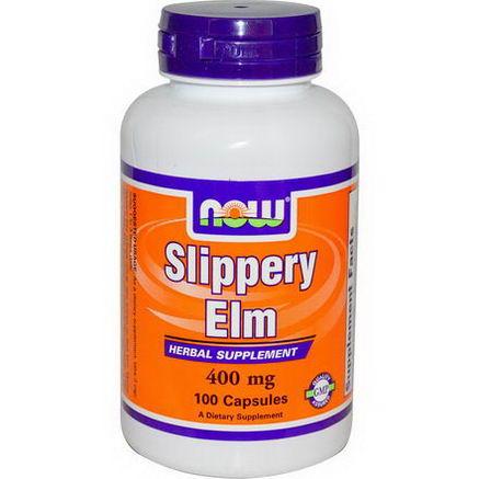 Now Foods, Slippery Elm, 400mg, 100 Capsules