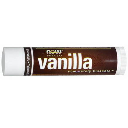 Now Foods, Solutions, Completely Kissable, Vanilla Lip Balm, 15oz (4.25g)