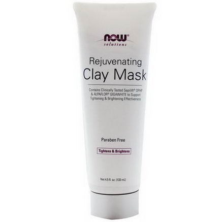 Now Foods, Solutions, Rejuvenating Clay Mask, 4.5 fl oz (133 ml)