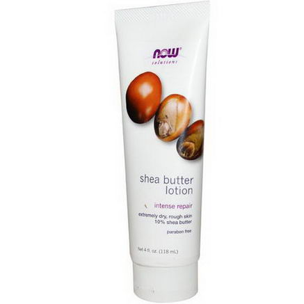 Now Foods, Solutions, Shea Butter Lotion, 4 fl oz (118 ml)