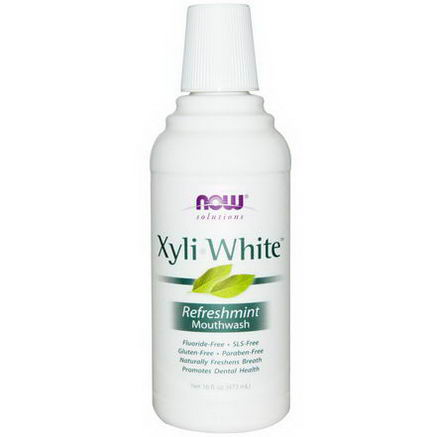 Now Foods, Solutions, Xyli-White Mouthwash, Refreshmint, 16 fl oz (473 ml)