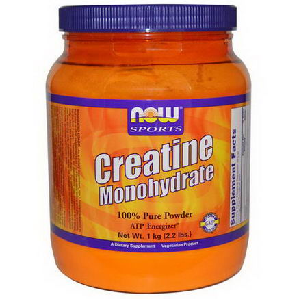 Now Foods, Sports, Creatine Monohydrate, 100% Pure Powder, 2.2 lbs (1 kg)
