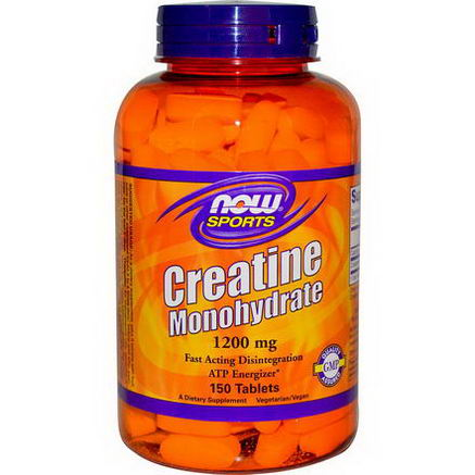 Now Foods, Sports, Creatine Monohydrate, 1200mg, 150 Tablets