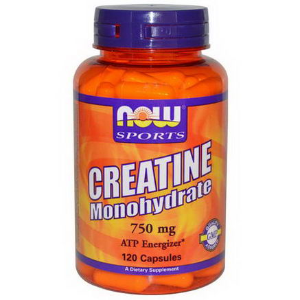 Now Foods, Sports, Creatine Monohydrate, 750mg, 120 Capsules