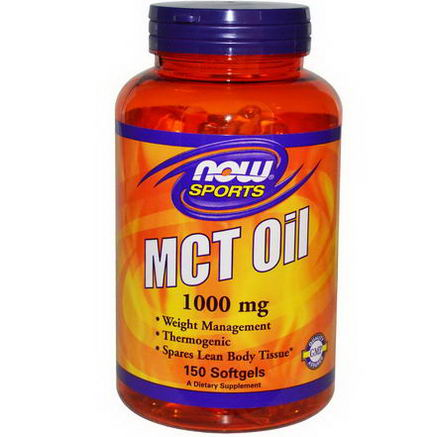 Now Foods, Sports, MCT Oil, 1000mg, 150 Softgels