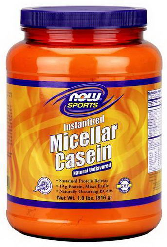 Now Foods, Sports, Micellar Casein, Instantized, Natural Unflavored, 1.8 lbs (816g)