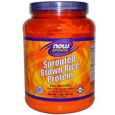 Now Foods, Sports, Sprouted Brown Rice Protein, 2 lbs (907g)