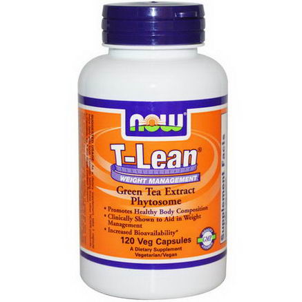 Now Foods, T-Lean Weight Management, Green Tea Extract Phytosome, 120 Veggie Cap